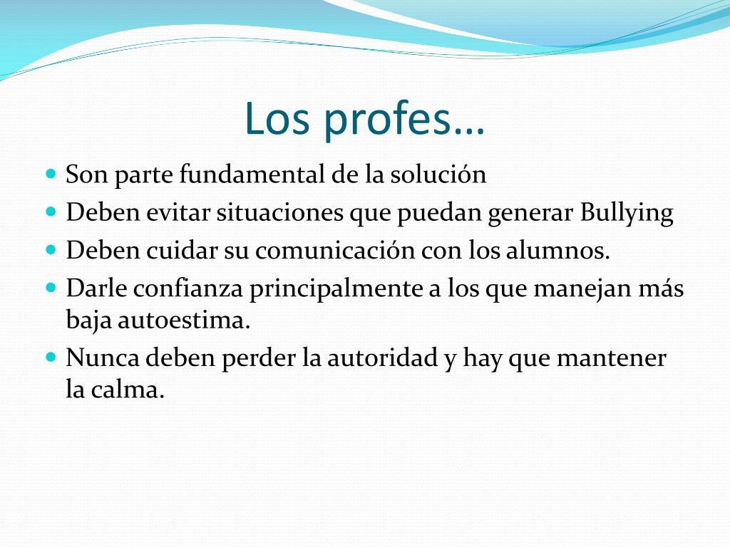 Los profes…