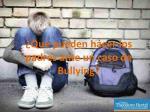qu pueden hacer los padres ante un caso de bullying
