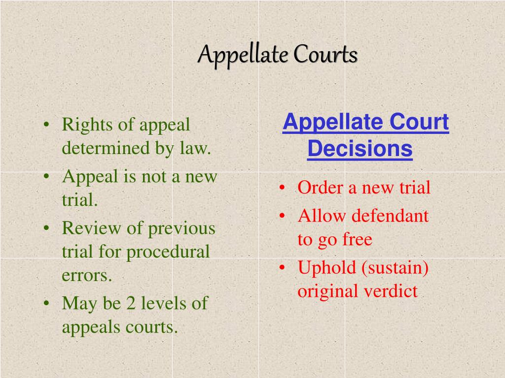appeal and appellate court decision