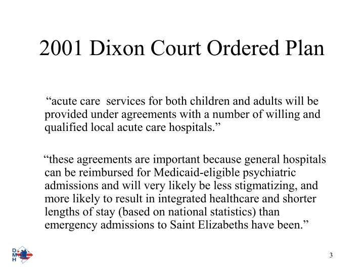 2001 dixon court ordered plan