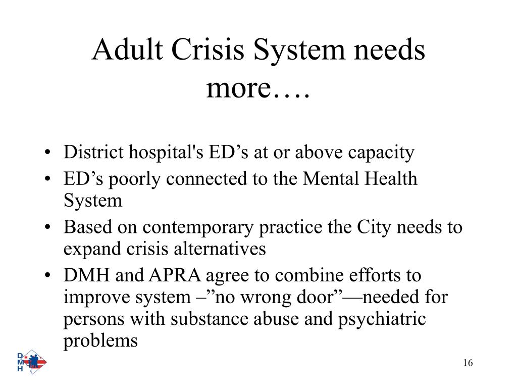 Adult Crisis System needs more….