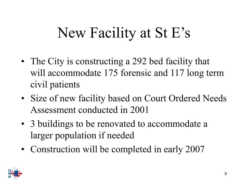 New Facility at St E's