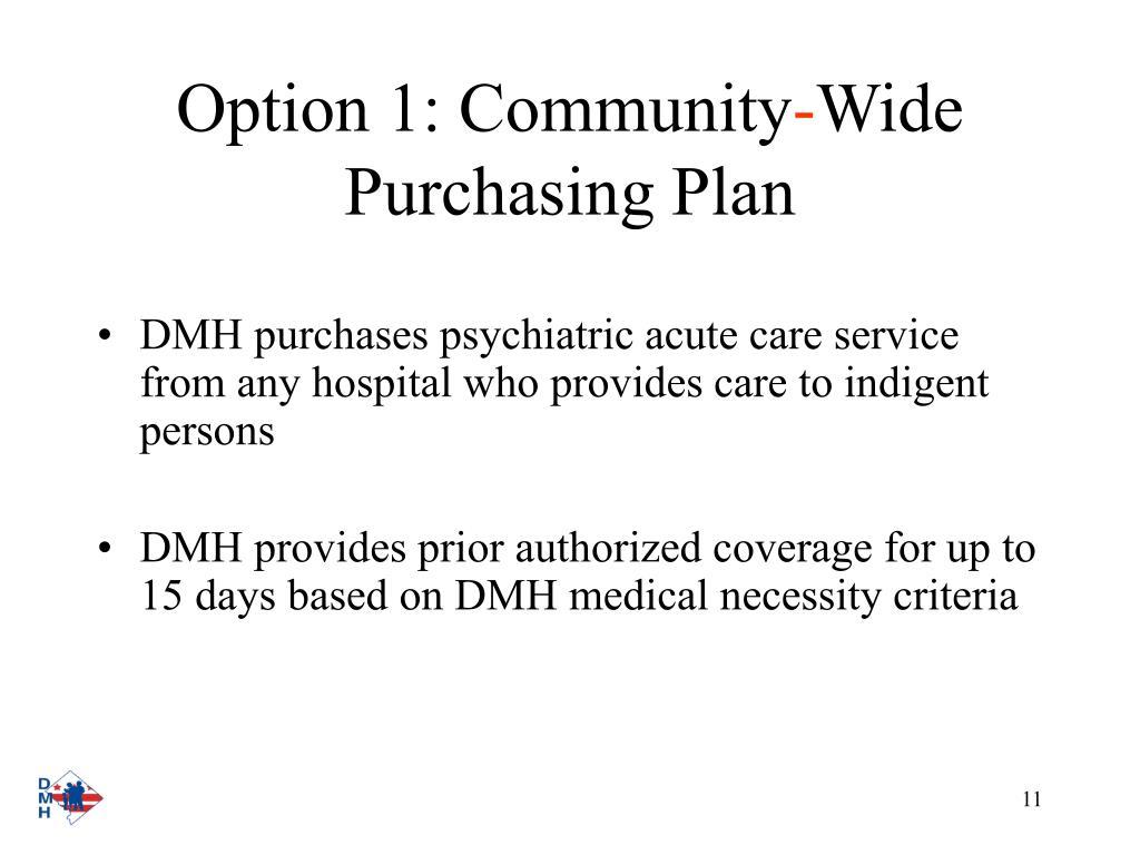 Option 1: Community