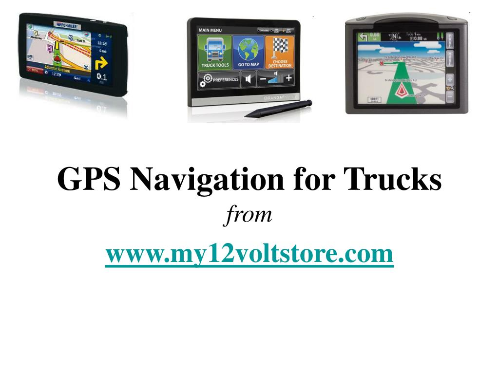 gps navigation for trucks from l.