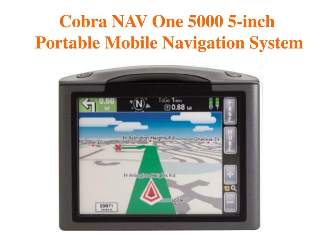 Cobra NAV One 5000 5-inch