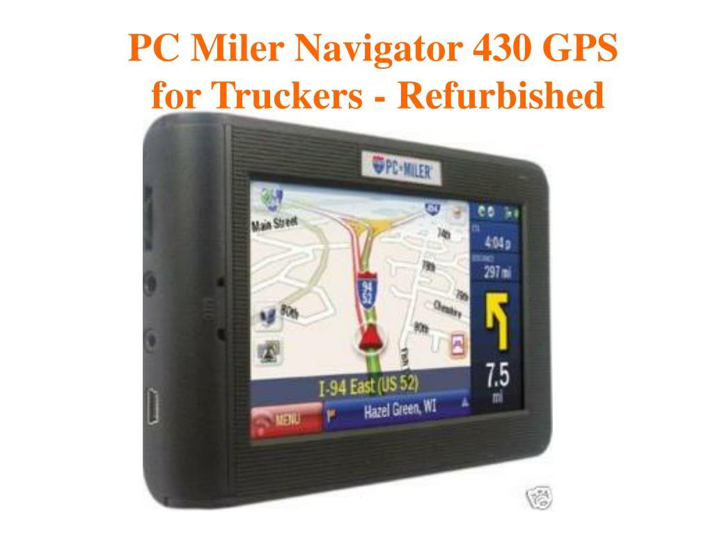 PC Miler Navigator 430 GPS