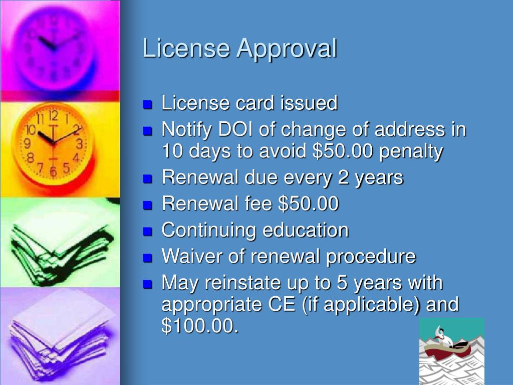 License Approval