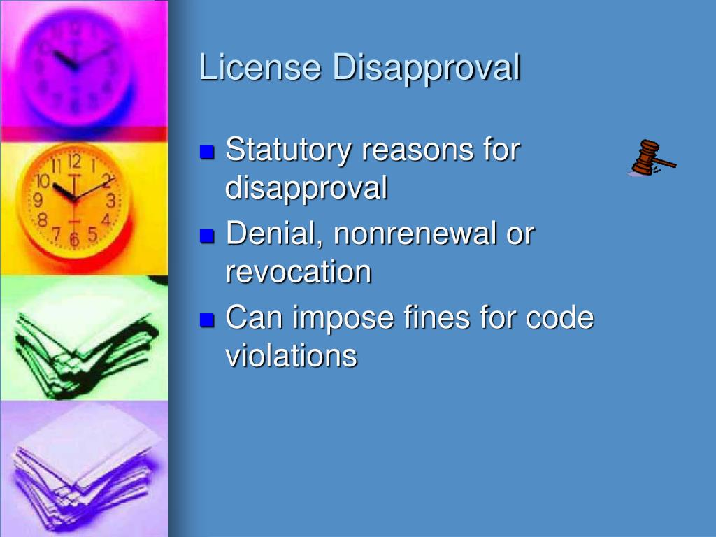 License Disapproval