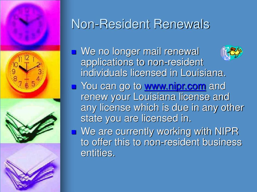 Non-Resident Renewals