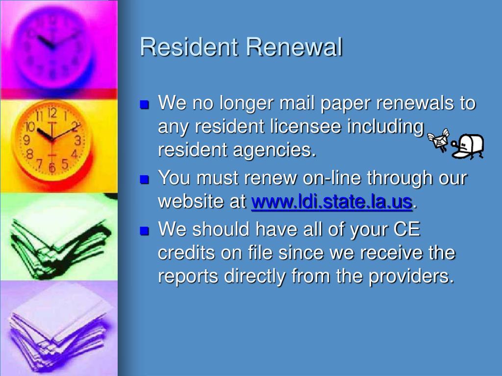 Resident Renewal