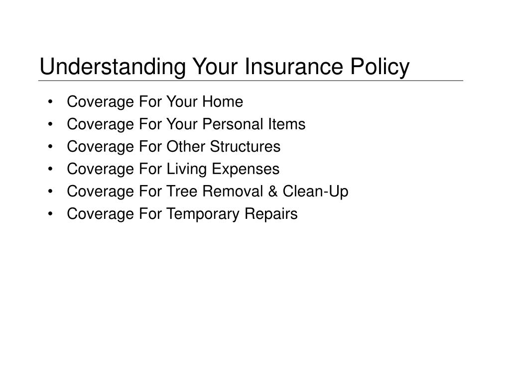 Understanding Your Insurance Policy