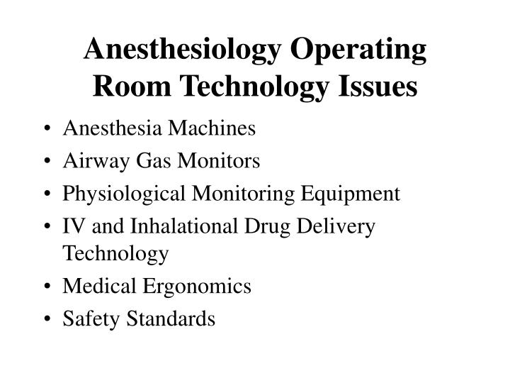 Anesthesiology Operating