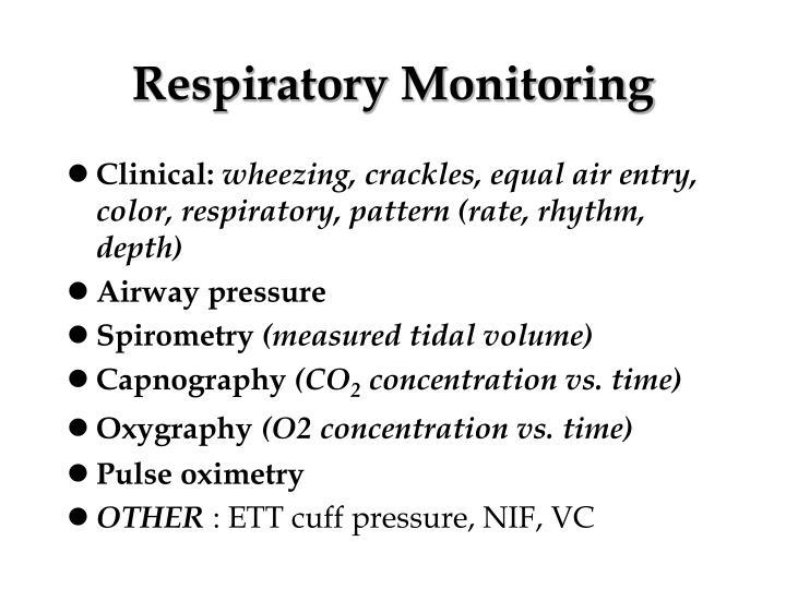 Respiratory Monitoring