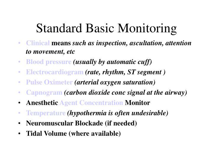 Standard Basic Monitoring
