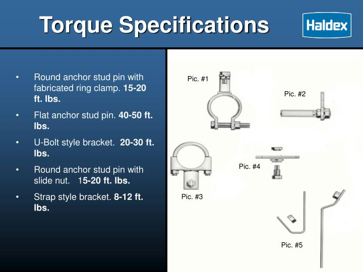 Torque Specifications