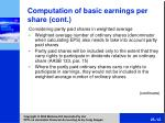 comput ation of basic earnings per share cont12