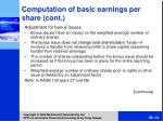 comput ation of basic earnings per share cont14