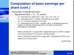 comput ation of basic earnings per share cont16