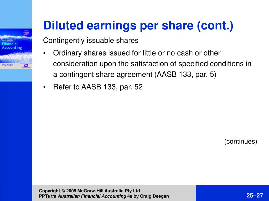 Diluted earnings per share (cont.)