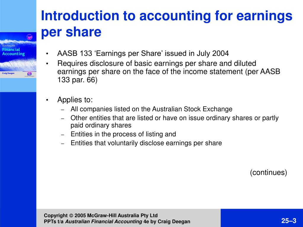 Introduction to accounting for earnings per share