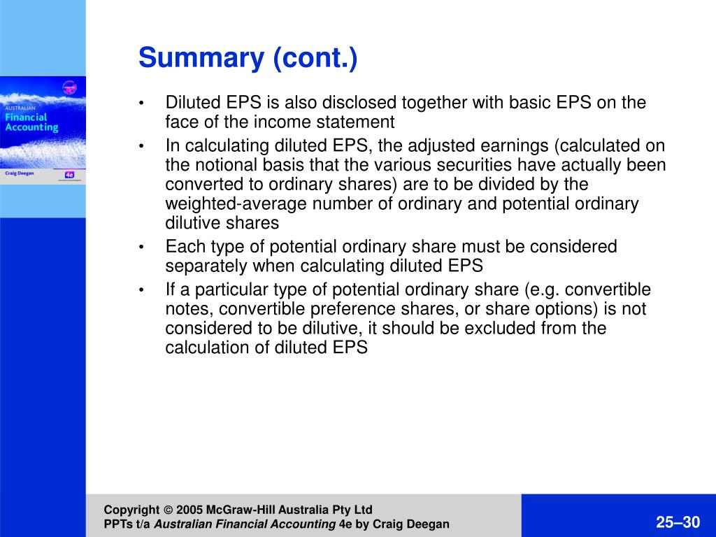 Diluted EPS is also disclosed together with basic EPS on the face of the income statement