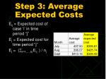 step 3 average expected costs
