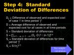 step 4 standard deviation of differences