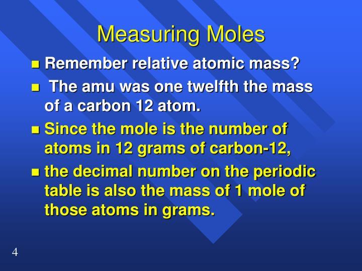 Measuring Moles