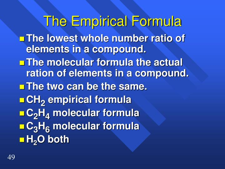 The Empirical Formula