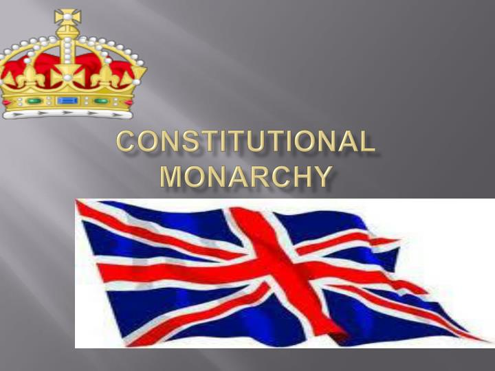 constitutional monarchy n.