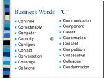 business words c