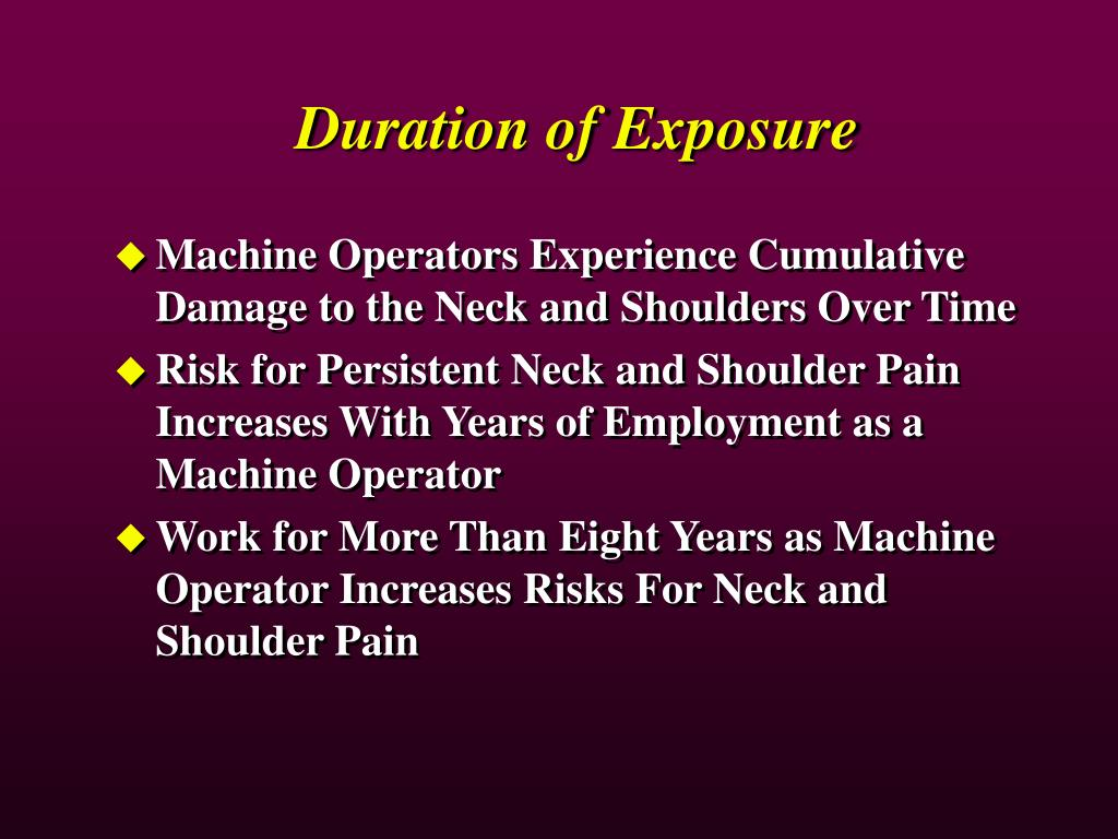 Duration of Exposure