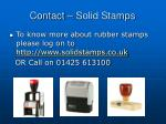 contact solid stamps