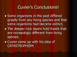 cuvier s conclusions