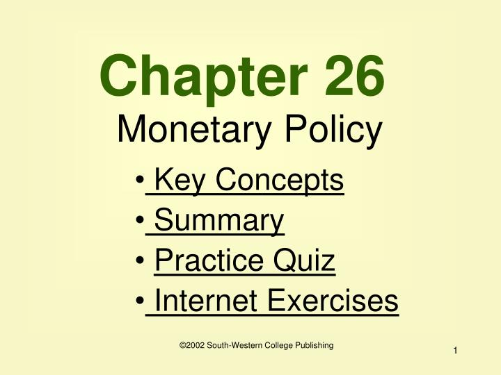 chapter 26 monetary policy n.