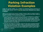 parking infraction violation examples