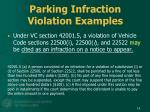 parking infraction violation examples1