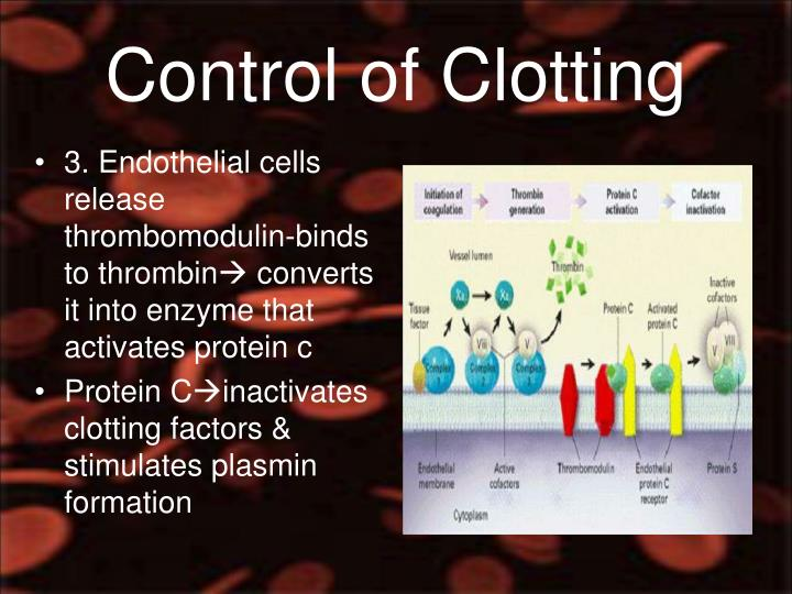 Control of Clotting