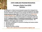 state homeless program resources4