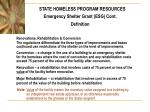 state homeless program resources5