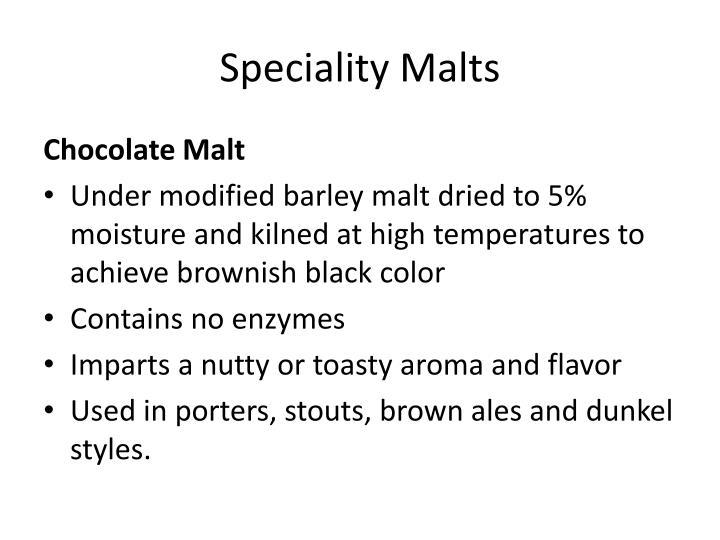 Speciality Malts