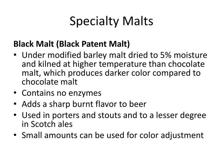 Specialty Malts