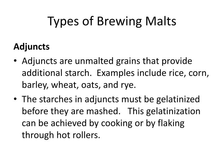 Types of Brewing Malts