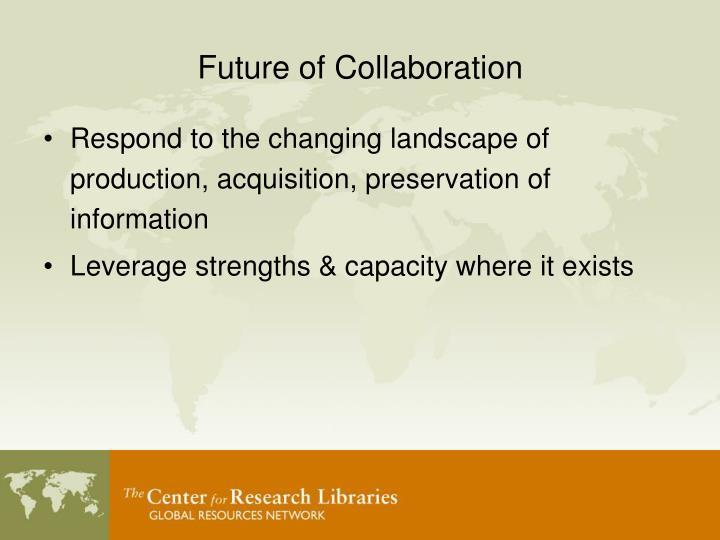 Future of Collaboration