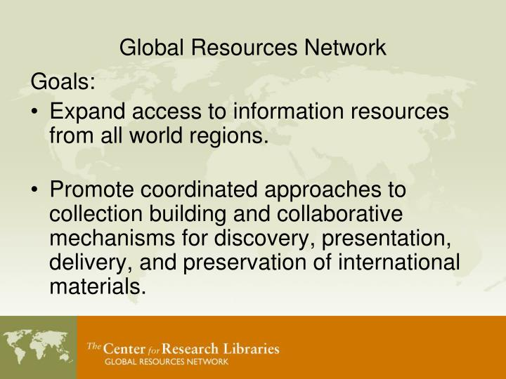 Global resources network