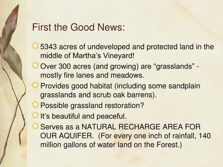 First the Good News: