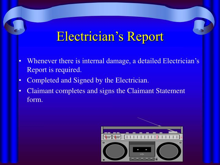 Electrician's Report