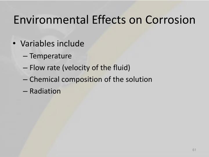 Environmental Effects on Corrosion