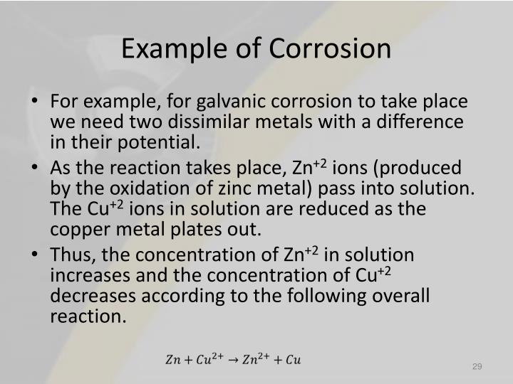 Example of Corrosion