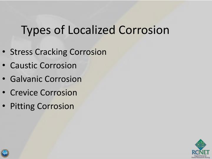 Types of Localized Corrosion